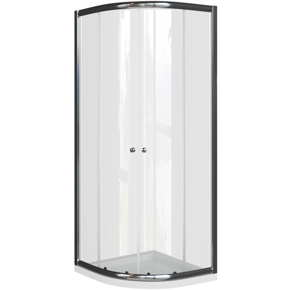Basic polukružna kabina krom profil prozirno staklo