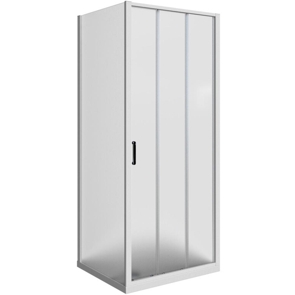 Domino pravokutna kabina 3v bijeli profil mutno staklo