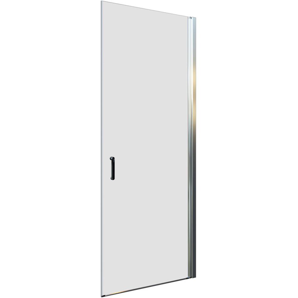 Pivot zaokretna vrata u 1 dijelu krom profil prozirno staklo
